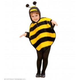 Plush Bee Hooded Poncho 98 - 110Cm Fancy Dress Costume (Animals)