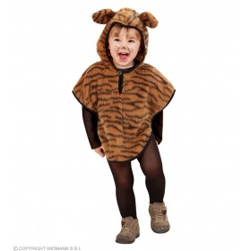 Plush Tiger Hooded Poncho 98, 110Cm Fancy Dress Costume (Animals)