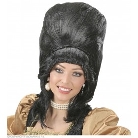 Black Supertall Wigs - In Polybag - Fancy Dress