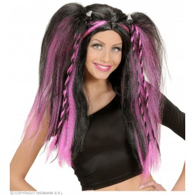 Katsumi Wig In Polybag - 4 Colors Asstd - Fancy Dress