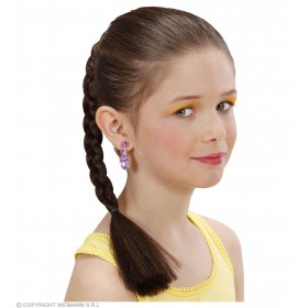 Hair Extension Plait Child - Brown - Fancy Dress Girls