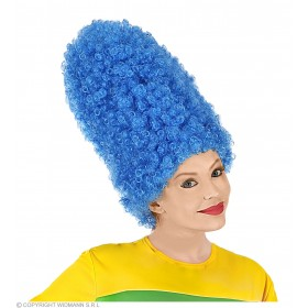 Cartoon Wig Blue In Polybag - Fancy Dress