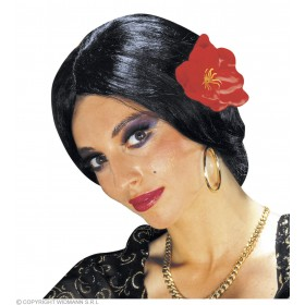 Carmen Wig W/Flower - Fancy Dress