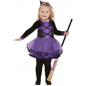 Toddler Pretty Star Witch Fancy Dress Costume Halloween