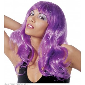 Crystal Wig In Polybag 4 Colours - Fancy Dress