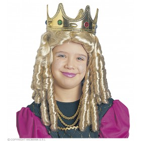 Princess Wig Brown Or Blonde - Fancy Dress (Royalty)