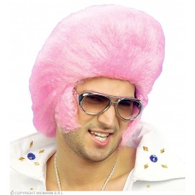 Pink The King Wig - Fancy Dress