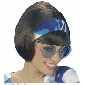 70S Wig - Brown - Fancy Dress (1970S)
