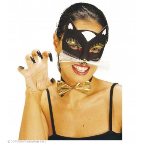 Cat Eyemask Blk Or White - Fancy Dress