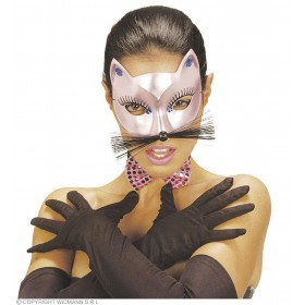 Cat Eyemask Gold/Pink Asstd - Fancy Dress