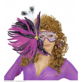 Feather Eyemask Super Deluxe 6Styles - Fancy Dress