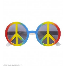 Multicolor Love & Peace Glasses - Fancy Dress