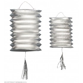 Lanterns Silver Metallic 25Cm - Fancy Dress