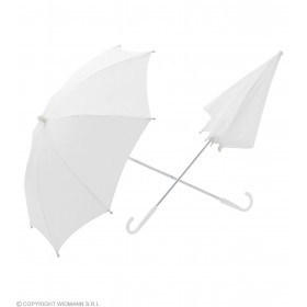Umbrella White 60Cm - Fancy Dress