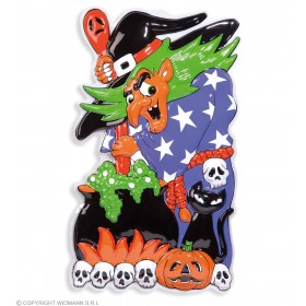 3D Witches With Cauldron 51 X 91Cm - Fancy Dress (Halloween)