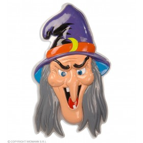 3D Witch Heads 51X91Cm - Fancy Dress (Halloween)
