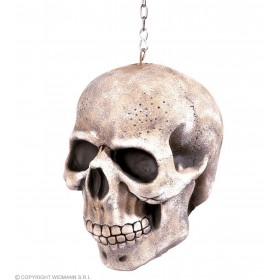 Hanging Skull W/Chain Decoration 20Cm - Fancy Dress (Halloween)