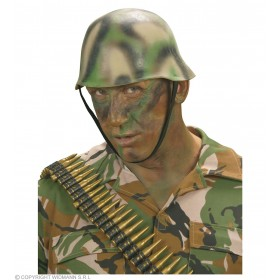Camouflage Soldier Helmet - Fancy Dress (Army)