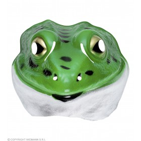Adult Unisex Plastic Mask Child - Frog Masks - (Green)
