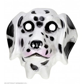 Adult Unisex Plastic Mask Child - Dalmation Masks - (White, Black)