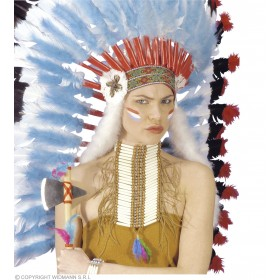 Native American Warrior Breastplatechoker - Fancy Dress (Cowboys/Native Americans)