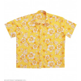 Mens Hawaiian Shirt M/L - Yellow Hawaiian Outfit - (Yellow)