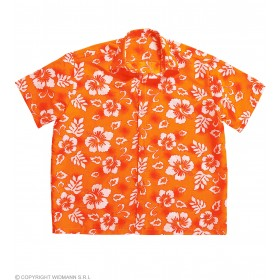 Mens Hawaiian Shirt M/L - Orange Hawaiian Outfit - (Orange)