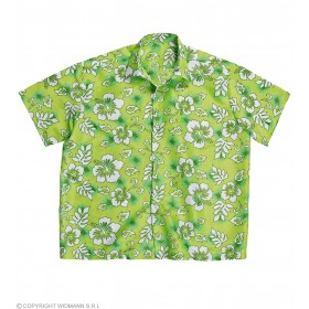 Mens Hawaiian Shirt M/L - Green Hawaiian Outfit - (Green)