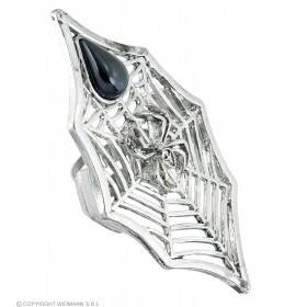 Gothic Spider & Spiderweb Ring - Fancy Dress (Halloween)