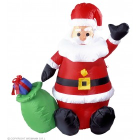 Inflatable Light-Up Santa Claus 122Cm Fancy Dress (Christmas)