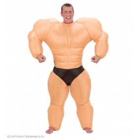 Inflatable Bodybuilder Costume Fancy Dress