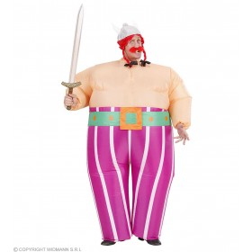 Inflatable Viking Costume And Belt Fancy Dress (Viking)