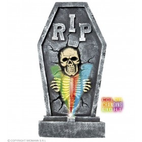 Tombstones W/Colour Changing Light Skeleton Fancy Dress (Halloween)