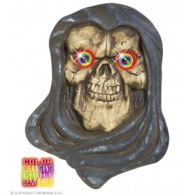 Grim Reaper Heads W/Colour Changing Eyes - Fancy Dress (Halloween)