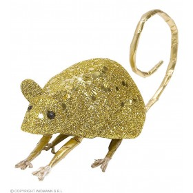 Gold Glitter Mice 9Cm - Fancy Dress (Halloween)