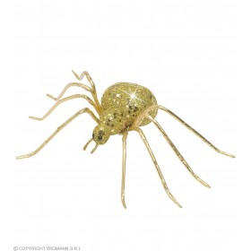 Gold Glitter Spiders 6.5Cm - Fancy Dress (Halloween)