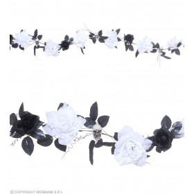 Flower & Skull Garlands 6 Col Change Light, Fancy Dress (Halloween)