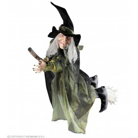 Flying Witches On Broom 100Cm - Fancy Dress (Halloween)