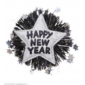 Silver Happy New Year Brooches Jewellery - (Silver)