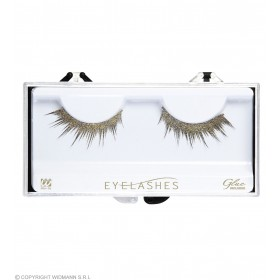 Gold Glitter Eyelashes (Glass Bottle Glue) Eyelashes - (Gold)