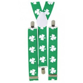 Green St. Patrick's Day Shamrock Braces