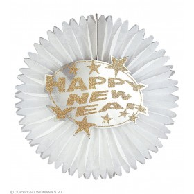 New Year Paper Fan Dia 55Cm 2Cols - Fancy Dress