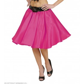 Pink Satin Skirts With Sewn, In Petticoat, Fancy Dress