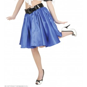 Blue Satin Skirts W/Sewn - In Petticoat - Fancy Dress