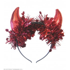 Metallic Red Horns - Fancy Dress (Halloween)