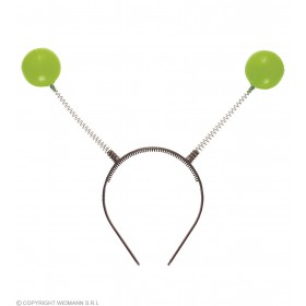Adult Unisex Green Antenna Headbands Accessories - (Green)