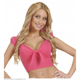Cotton Ribbon Top - Pink - Fancy Dress