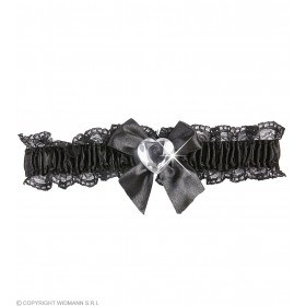 Black Garter W/Diamante Gem Accessories