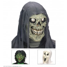 Horror Mask Child Witch / Ghost / Skull - Fancy Dress (Halloween)