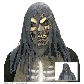 Shredded Hood Horror Mask Skull / Zombie - Fancy Dress (Halloween)